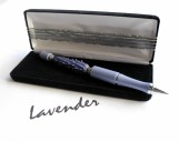 Refillable Lavender Glass Bead Pen
